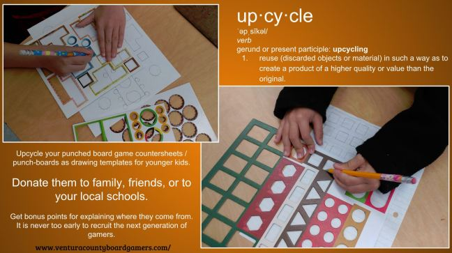 Upcycle board game punchboards
