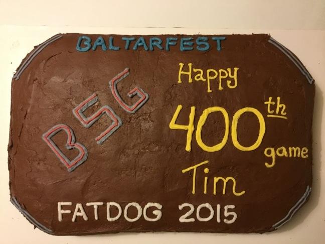 400th BSG cake