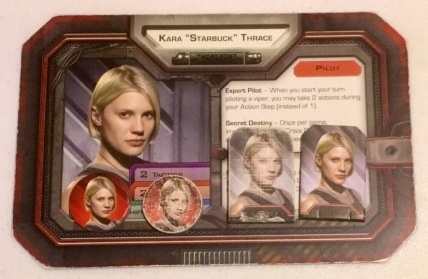 The new, and very used, Starbuck tokens from Battlestar Galactica