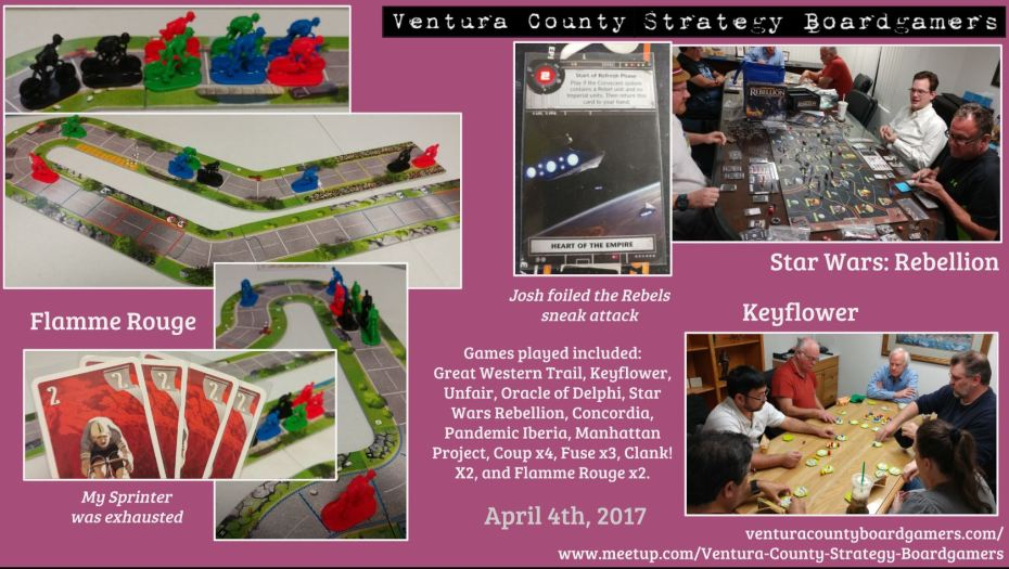 VCSB 4th April 2017
