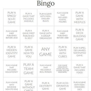 The TableTop DOG Raffle Bingo sheet