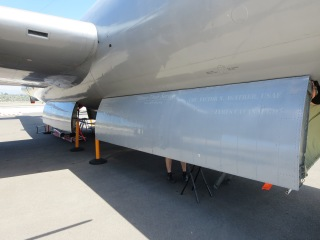 The bomb bay doors of the B-29 FiFi