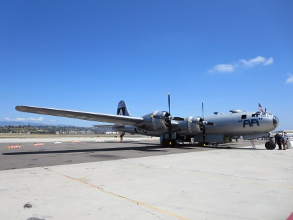 The B-29 FiFi on the tarmac at Camarillo Airport