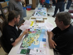 Oerjan came all the way from Sweden. He run a playtest corner for COIN games