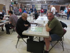 Roger Miller playtesting a new Rinella game
