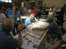 Greg demoing his game 7YW: Frederick's Gamble