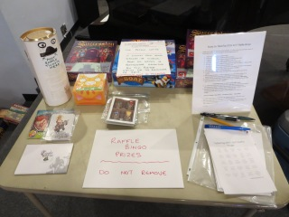 The Raffle Bingo prizes