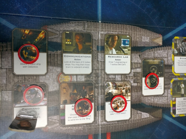 Five damaged location on Galactica