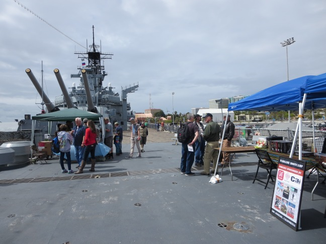 The setup on the fantail of the USS Iowa
