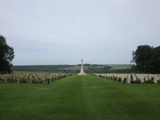 The Anglo-French Cemetery at Thiepval