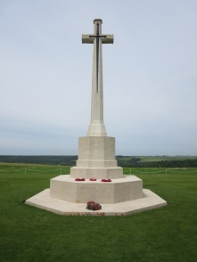 The High Cross at the Anglo-French Cemetery at Thiepval