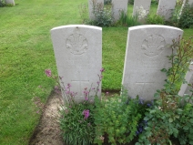 Two brothers killed on the same day, 7th July 1916.