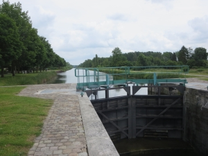 Lock gates on the River Somme