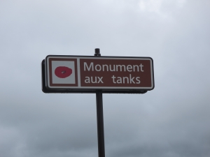 The British Tank Corps memorial near Pozières