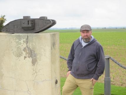 The British Tank Corps memorial near Pozières