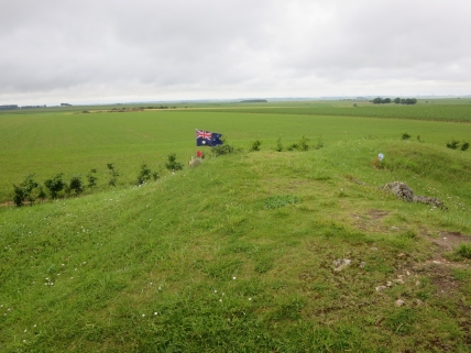 The wide open view from Pozieres windmill