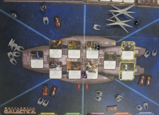 The Cylon Raider take out may civvy ships. Game Over.