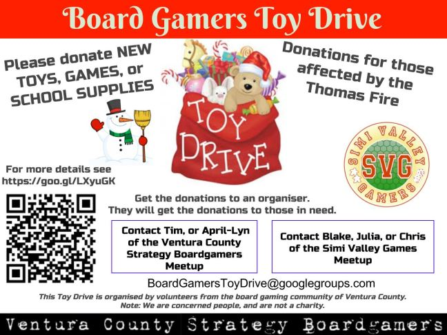 Board Gamers Toy Drive
