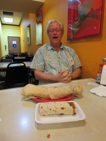 The burrito & Greg Ticer