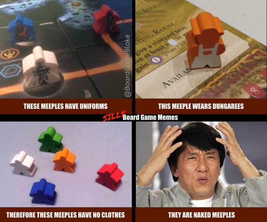 Plain Meeples are actually naked