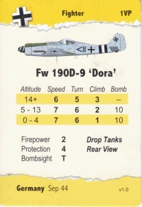 Aircraft data card for the Fw 190D-9 aircraft from the Wing Leader: Supremacy 1943-1945 game