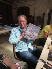 Jerry and an advanced production copy of his design