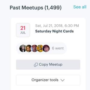Ted hosted the 1499th meetup